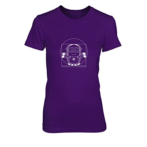 Vitruvian Banana - Damen T-Shirt, Größe: XL, Farbe: lila