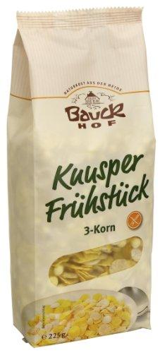 Persönlichen Mischung Lieblings (Bauckhof Knusper Frühstück, 3-Korn , 6er Pack  (6 x  225 g) - Bio)