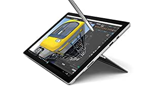 """Microsoft Surface Pro 4 CR3-00003 12.3"""" (Intel Core i5 6ème generation, SSD 256 Go, 8 Go de RAM, Windows 10 Professionnel), Argent - Ancien Modèle"""