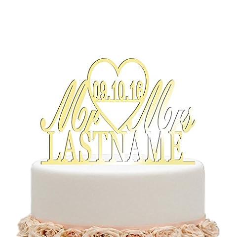 vspg Personalised Cake Topper (Mr&Mrs design2, Mirror
