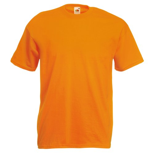 Fruit Of The Loom Herren Kurzarm T-Shirt Large,Aprikose (Leichtes Drei-tasten-anzug)