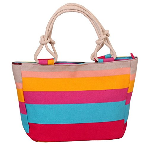 Womens Ladies Canvas Beach Tote Fashion Bag Shopping Bag Handbag (13)
