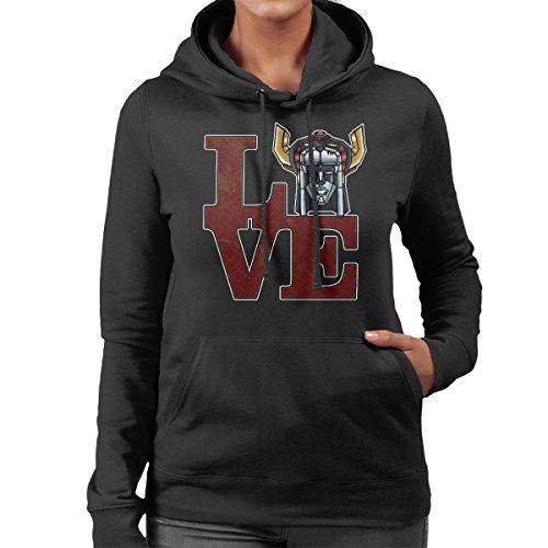 Love Voltron Women's Hooded Sweatshirt Black