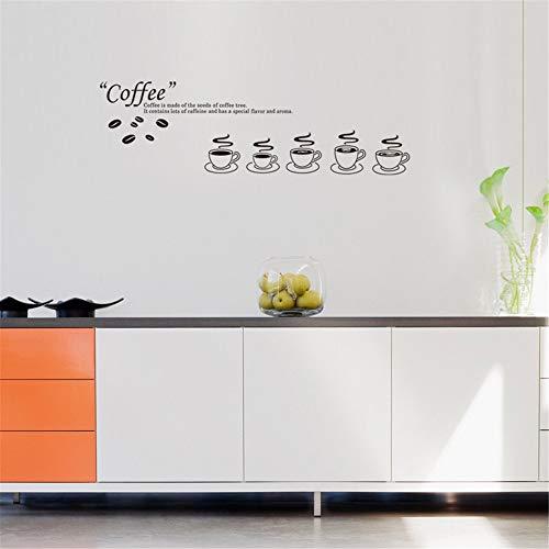 BOBOSLR Neue Kaffeetasse Wandaufkleber für Kinderzimmer Wohnkultur Hintergrund Wohnzimmer Küche...