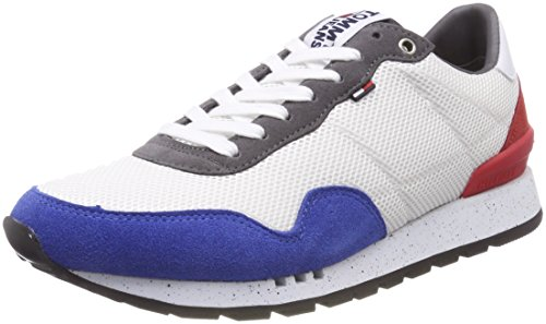 Hilfiger Denim Herren Tommy Jeans Lifestyle Sneaker, Weiß (RWB 020), 44 EU