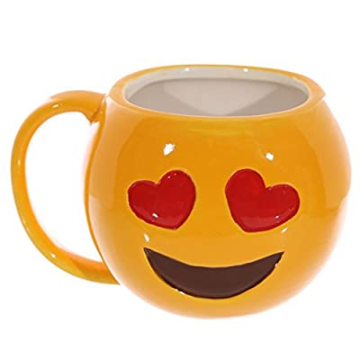 Puckator Emoji Love Hearts OMG Ceramic Coffee Mug