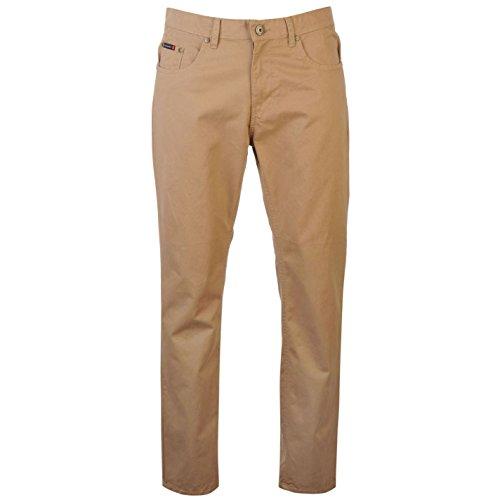 Pierre Cardin-Pantaloni 5Tasche Chino pantaloni Chino il tempo libero Plastica da uomo cotone marrone W30