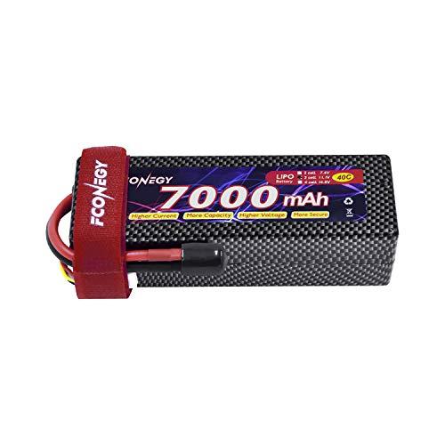 FCONEGY 11.1V 3S 7000mAh 40C Lipo akku mit Deans-T Stecker Modellbau Akku für RC Auto/Boot/Truck/LKW Batterie (Autos Mit Rc Lipo-akku)