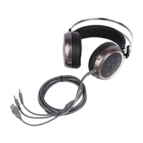 DERNON LESHP Cool Crack Pattern Audio Interface 3.5mm 32Ω 40MW 108±3dB Game Headset - 40 Mw-audio