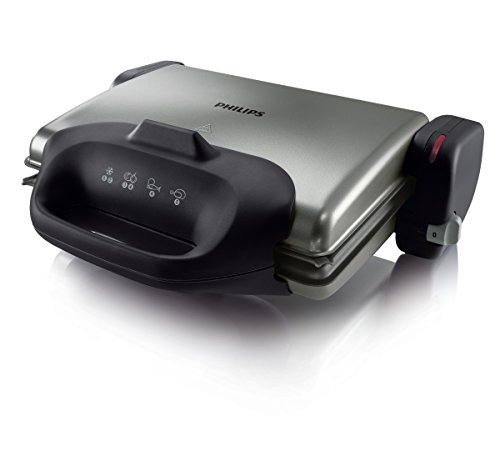 Philips hd4467/90 health grill da 2000 w con piastra scanalata