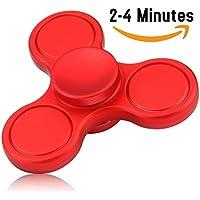 Fidget Spinner de Vivahouse   Juguete Hand Spinner Alivia Estrés y Ansiedad TDAH Autismo TDA Para Más Calma Claridad Atención   Gadget Silencioso de Giros de Aleación Tamaño Bolsillo (Rojo)