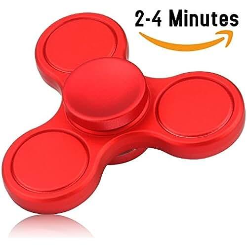 fidget spinner el nuevo juguete de moda Fidget Spinner de Vivahouse | Juguete Hand Spinner Alivia Estrés y Ansiedad TDAH Autismo TDA Para Más Calma Claridad Atención | Gadget Silencioso de Giros de Aleación Tamaño Bolsillo (Rojo)