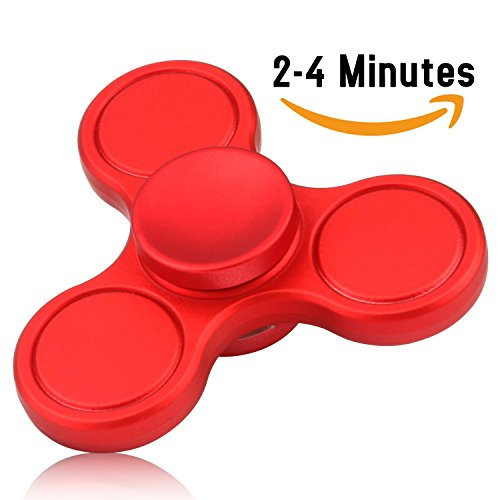 Vivahouse Fidget Spinner | Hand Spinner Stress and Anxiety Relief Toy | ADHD, Autism, ADD | Promotes Calming Clarity and Focus | Quiet Gadget | Pocket Size (Red)