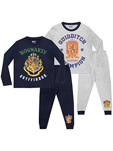 Harry Potter Pijamas de Manga Larga para Niños Hogwarts 2 Paquetes 11