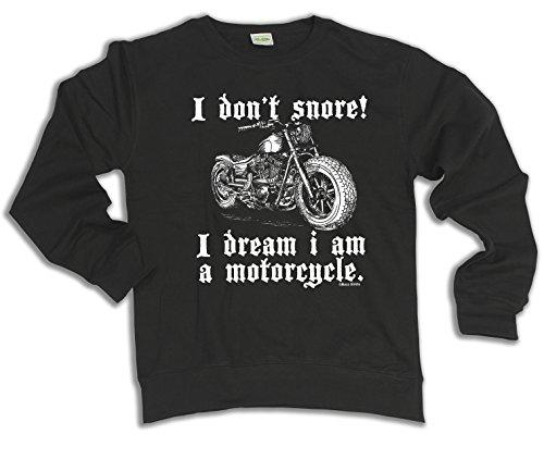 I Don`t Snore I Dream I Am A MOTORCYCLE Wahl von Hoodie oder von StrickjackeUnisex (Sweater) Black