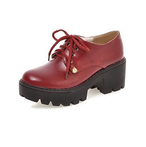allhqfashion-womens-pu-kitten-heels-round-closed-toe-solid-lace-up-pumps-shoes-red-43
