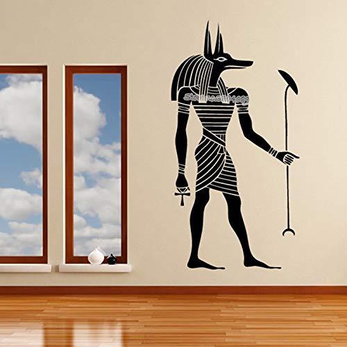 Ägyptischen Anubis Wandaufkleber Gott religion glaube Altes Ägypten Aufkleber Vinyl Kunst Dekor Vintage Home Office Wohnzimmer Wandbilder 42X82CM - Haut-ebene Ballon