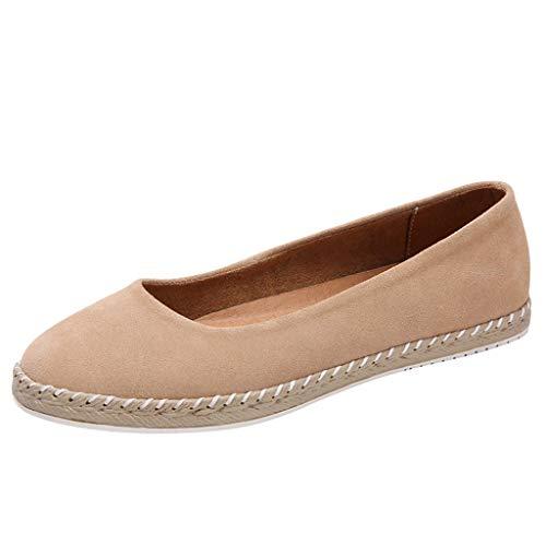 (Ears Frauen Sommer Flache Schuhe Casual Runde Kopfmutter Schuhe Einzelne Schuhe Rutschfeste Espadrilles Freizeit Römische Schuhe Vintage Böhmische Schuhe Freizeit Sandalen Sneakers)
