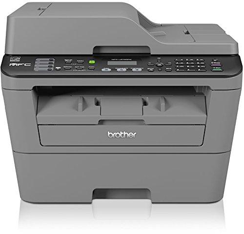 fax brother Brother MFC-L2700DW Monolaser-Multifunktionsgerät (Drucker, Kopierer, Scanner, Fax, 2400 x 600 dpi, WLAN, USB 2.0) grau