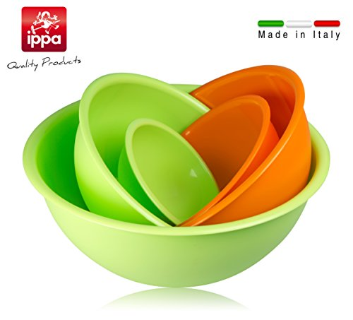 Set 5 insalatiere in polipropilene. Terrine 100% made in Italy. Perfette in cucina e in campeggio