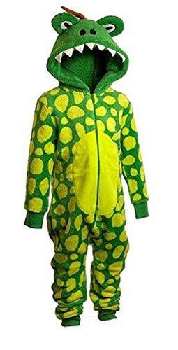 Unisex Dinosaurier Einteiler 2 bis 6 Jahre Dinosaurier Alles in eins Dinosaurier Kostüm - Grün, 3-4 Years (Height to fit - Dinosaurier Kostüm 2 3 Jahre