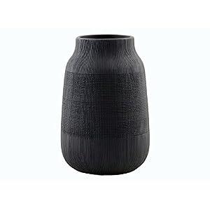Glasvase Konischer Zylinder Schwarz 43cm O 18cm Bodenvase Glas Gross