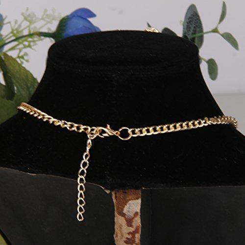 Diamantes De Imitación Collar De Perlas De Diamante Clavícula Y El Sistema De La Joyería Pendiente De Oro
