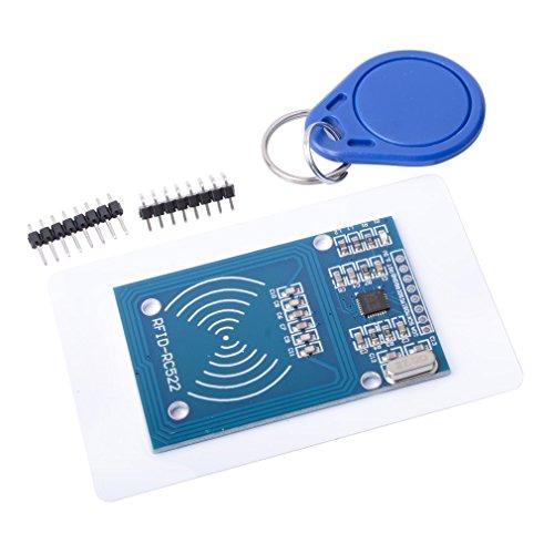 MUZOCT MFRC-522 RC522 RFID HF-IC-Karte Induktives Modul + S50 Weiße Karte + Schlüsselring für Arduino