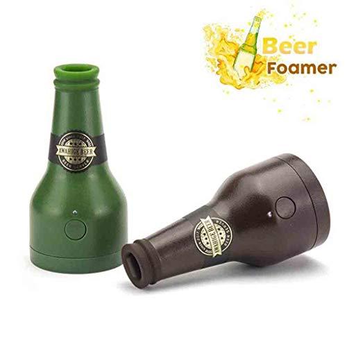 2019 2Pcs Bier Neuheit Ultraschall Bierschäumer Dose Bierflasche Form Schaum Maker Elektrische Bier Düse Foamer Party Kitchen Bar Wein Werkzeuge (Mehrfarbig, 13,5 x 6,7 x 3 cm)