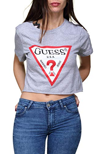 Guess Damen T-Shirt Gr. S, grau