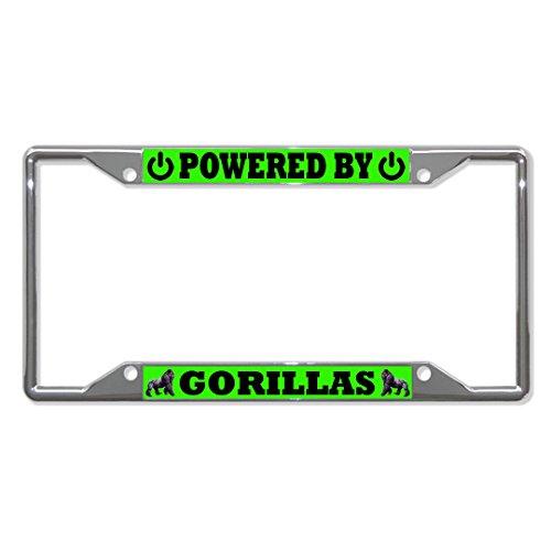 Powered by Gorillas Tier-Metall-Halterung für Nummernschild, 4 Löcher, perfekt für Männer und Frauen