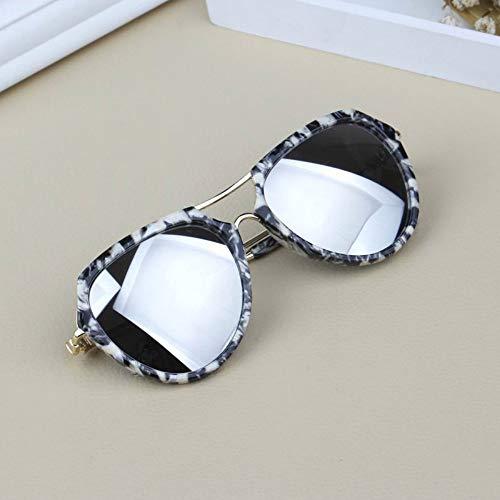 Sonnenbrille Spiegel Kinder Sonnenbrille Kids Reflektierender Sonnenbrille Design Junge Mädchen Farben Uv 400 Resin Lens Baby Goggle Brillen Marmor Silber