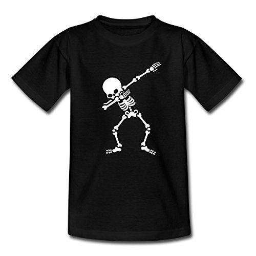 Squelette Danse Le Dab T-shirt Enfant de Spreadshirt®, 110/116 (5-6 ans), noir