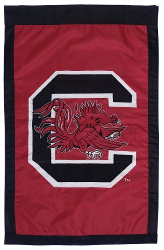 NCAA South Carolina Fighting Gamecocks Double Sided 29 x 44-Inch Applique Flag by Evergreen