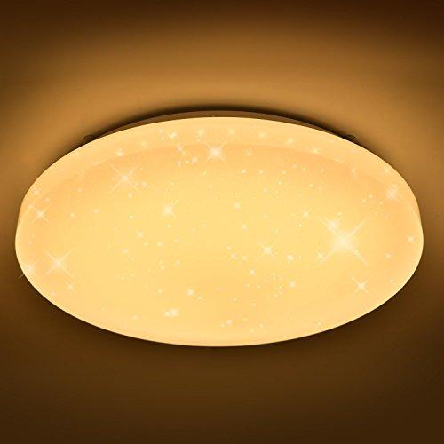 Hengda® 16W LED Starlight-Effekt Deckenlampe Wohnzimmer Deckenbeleuchtung Mordern Badleuchte Warmweiß 2700K-3000K