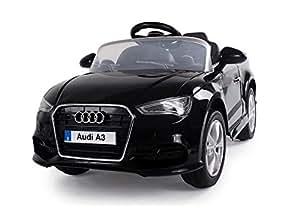 babycar 99852 n voiture lectrique pour enfants audi a3 avec t l commande 12 volt noir. Black Bedroom Furniture Sets. Home Design Ideas