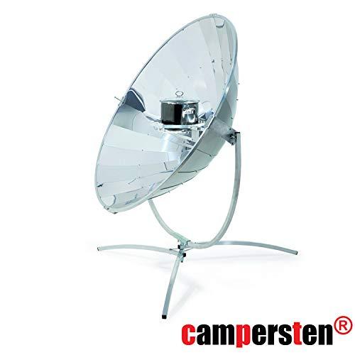 campersten® Solarkocher Sonnenkocher Sonnenofen, Kochen mit Sonnenenergie (1,4m - Leistung ca. 700 Watt bei wolkenlosem Himmel)