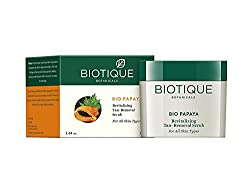 Biotique Bio Papaya Revitalizing Tan-Removal Scrub for All Skin Types ( Pack of 4 ) 75 Grams