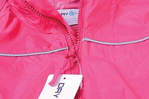 Dry Kids Waterproof Rainsuit Raspberry Pink 1yr