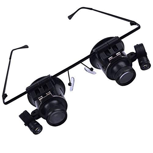 ALIFE Stirnband-Lupe mit LED-Licht, Freisprech-Lupe zum Lesen, Schmuck-Lupe, elektronische Reparatur, Medizinische 10x