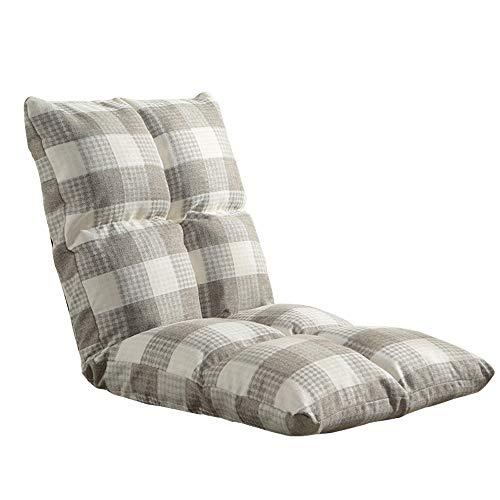Tragbare Faltbare Chaise Lounge Sofa Boden Stuhl Einzel Möbel Wohnzimmer Schlafzimmer Verstellbares Bett Faule Rückenlehne Kissen for Lesen Meditation Spiel 12 Farben (Size : D) (Chaise Lounge-sofa-bett)
