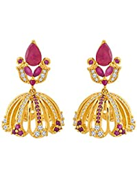 Voylla Jhumki Style Gold Plated Earrings From Golden Domes For Women