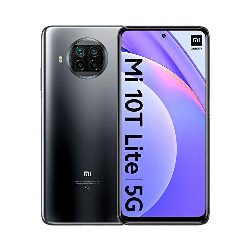 """Oferta de Xiaomi Mi 10T Lite 5G - Smartphone 6+64GB, 6,67"""" FHD+ DotDisplay, Snapdragon 750G, Cámara cuádruple de 64 MP con IA, 4820 mAh, Gris Perla (Versión oficial),con Alexa Hands-Free"""