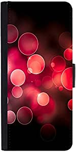Snoogg Red Bubblesdesigner Protective Flip Case Cover For Lg G4