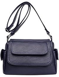 Ocamo PU Leather Crossbody Bag Shoulder Bag Women Casual Fashion Satchel Shopping Bag