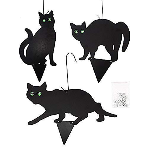 Ardisle 3 Pack x Gefälschte Black Metal Scare Katzen Schädlingsbekämpfung Control Scarer Repeller Cat -