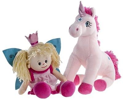 Heunec 505575 Poupetta - Hada y unicornio de peluche de Heunec