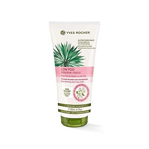 Yves Rocher PFLANZENPFLEGE HAARE Shampoo-Creme nicht schäumend, ultra-sanftes Haar-Shampoo, für strapaziertes Haar, 1 x Tube 200 ml