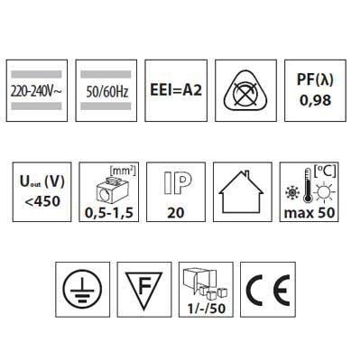 Elektronisches Vorschaltgerät, EVG für T5, 3-4x14W EEI = A2, Drossel, Zündgerät - 3
