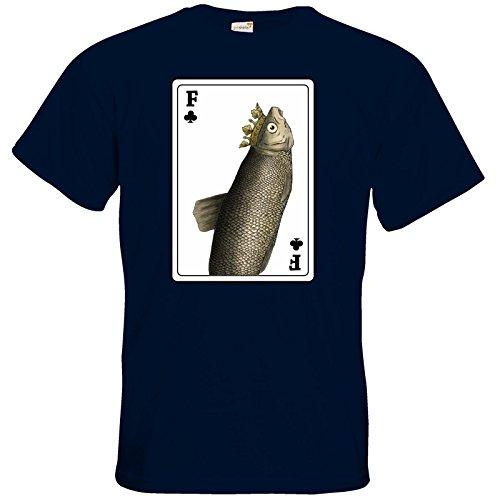 getshirts - Rocket Beans TV Official Merchandising - T-Shirt - Verflixxte Klixx - Fischkarte Navy